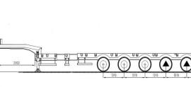 Grunwald 5-осный полуприцеп трал (раздвижной)